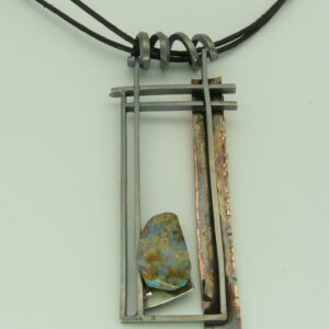 opal boulder silver and copper